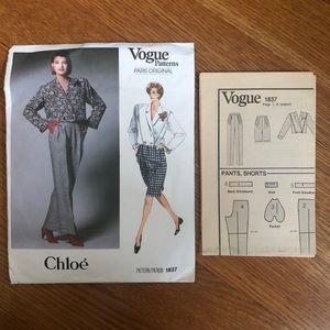 Vogue 1837 Chloe Sewing Pattern